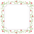 Roses floral frame Royalty Free Stock Photo
