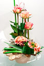 Roses florist composition Royalty Free Stock Photo