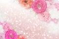 Roses flower border glitter background pastel tone Royalty Free Stock Photo
