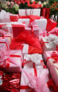 Roses and gifts Royalty Free Stock Photography