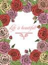 Roses. greeting card