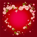 Roses heart frame Stock Photos