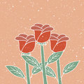 Roses illustration of hand drawn vintage on grunge background Royalty Free Stock Image