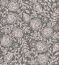 Roses lace seamless pattern. Royalty Free Stock Photo