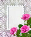 Roses and openwork frame Stock Photo