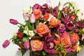 Roses and orchids. Royalty Free Stock Photo