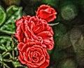 Roses red artsy