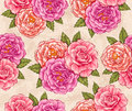 Roses seamless Royalty Free Stock Photo