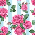 Roses 8. Seamless floral pattern.