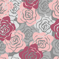 Roses Seamless Pattern Royalty Free Stock Photo