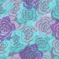 Roses Seamless Pattern Stock Photography