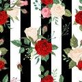 Roses Seamless Pattern. Backgr...