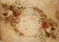Vintage Flower garland shabby chic background