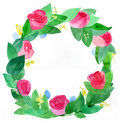 Roses wreath Royalty Free Stock Image