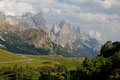 Rosetta peak and pale di san martino peaks of the group of dolomites trentino italy Royalty Free Stock Image
