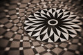 Rosette pattern on floor Stock Photo