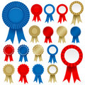 Rosette Ribbon Set Vector Royalty Free Stock Photos