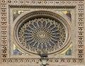 Rosette window dome of orvieto italy Royalty Free Stock Photo