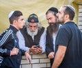 Rosh Hashanah, Jewish New Year 5777. Pilgrims of Hasidim in traditional festive attire celebrate mass in sity the Uman.