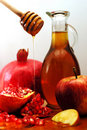 Rosh Hashanah Traditional Food Stock Image