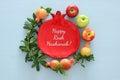Rosh hashanah & x28;jewish New Year holiday& x29; concept. Traditional symbols.