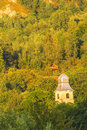 Rosia montana landscape from in alba romania Royalty Free Stock Images