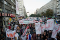 Rosia montana protest in bucharest romania september thousands of romanians vehemently oppose the passing of the draft legislation Stock Images