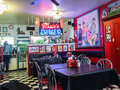 Rosie s diner interior in victoria bc cook st village british columbia shot of retro tables and chairs decor and take out Royalty Free Stock Photos