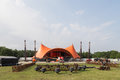 Roskilde Festival 2016 - Orange stage under construction Royalty Free Stock Photo