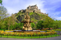 Ross fountain landmark in pinces street gardens edinburgh scotland uk Royalty Free Stock Photo