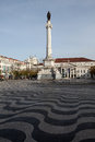 Rossio square praca do rossio in lisbon portugal Royalty Free Stock Photography