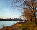 Rosslyn Virginia From The Banks Of The Potomac River Royalty Free Stock Photo