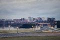 Rosslyn virginia from the lincoln memorial in washington dc Fotografia Stock