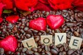 Rosted Coffee Beans With Heart...