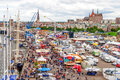 Rostock, Germany - August 2016: Hanse Sail markt