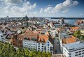 Rostock germany city skyline Stock Images