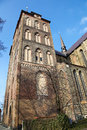 Rostock marienkirche church of mary in germany is the largest city in the north german state mecklenburg vorpommern Royalty Free Stock Photos