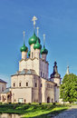 Rostov kremlin barbican churches of st john the apostle in russia Stock Photography