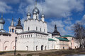 Rostov kremlin russia churches cupola bells towers of near yaroslavl Royalty Free Stock Photos