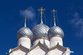 Rostov kremlin russia churches cupola bells towers of near yaroslavl Stock Photo