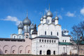 Rostov kremlin russia churches cupola bells towers of near yaroslavl Royalty Free Stock Photography