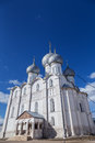 Rostov kremlin russia churches cupola bells towers of near yaroslavl Stock Images