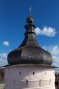 Rostov kremlin russia churches cupola bells towers of near yaroslavl Royalty Free Stock Images