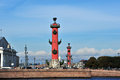 Rostral column saint petersburg russia in in Stock Photography