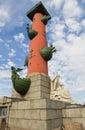 Rostral column on vasilevsky island saint petersburg russia Stock Photography