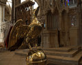 Rostrum a in the shape of a golden eagle in canterbury cathedral Stock Photography
