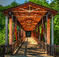 Roswell Mill Covered Bridge Royalty Free Stock Photo