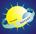 Rotary and balance Stock Photo