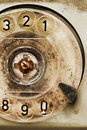 Rotary dial of old broken phone Stock Images