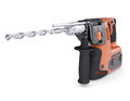 Rotary hammer isolated render on a white background Stock Photography